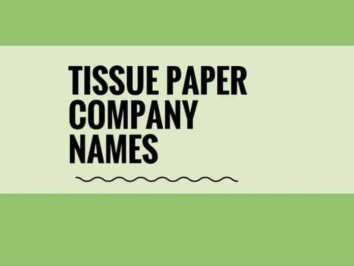 tissue paper company names