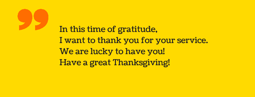 thanksgiving messages to employee
