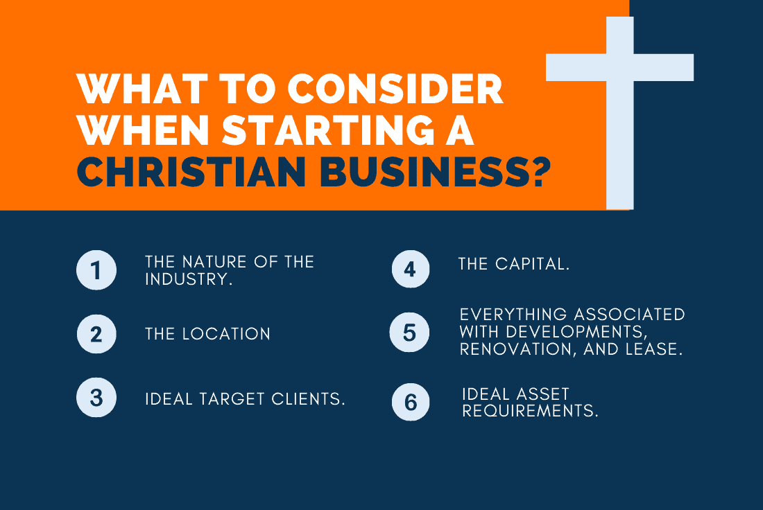 things when starting christian business
