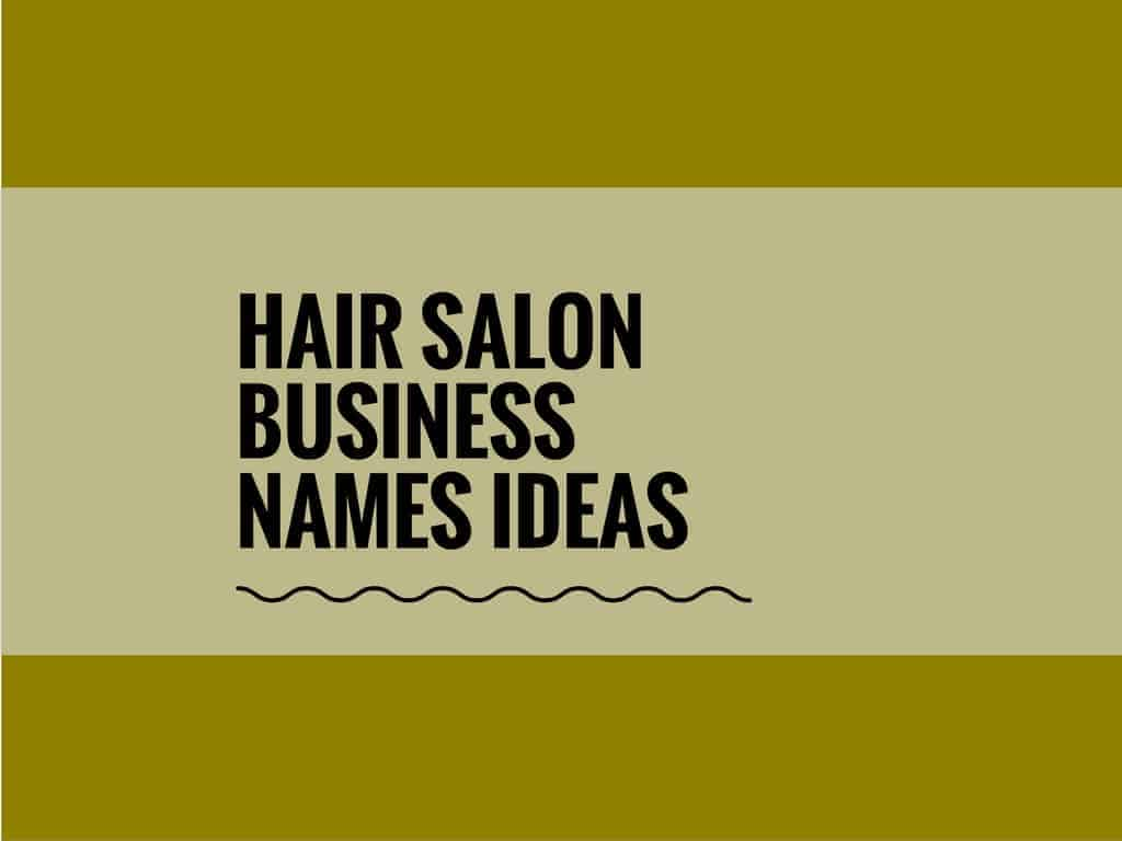 8+ Creative Hair Salon Names & Ideas - theBrandBoy.com