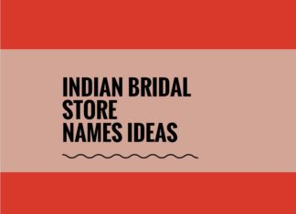 Indian Bridal Shop names