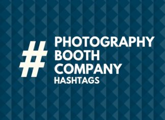 hashtags for photography booth company