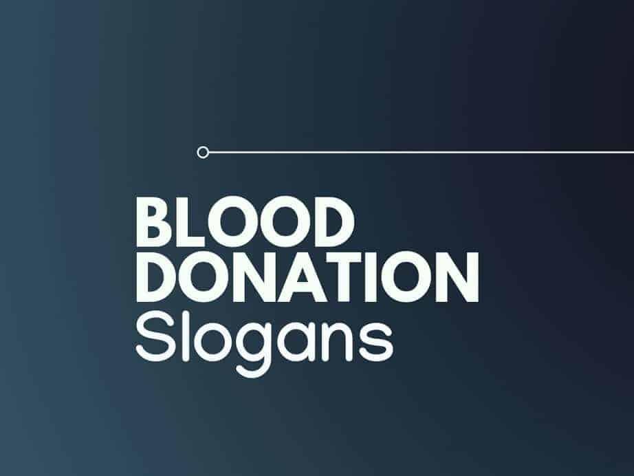 167 Creative Blood Donation Slogans Thebrandboy Com