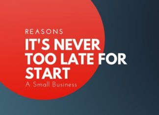 never too late to start a business