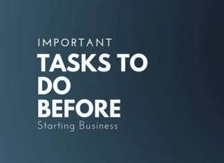 tasks to do before starting business