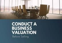 conduct a business valuation