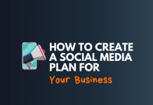 create social media plan for business