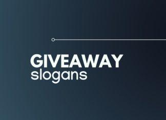 slogans on giveaway