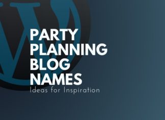 party planning blog names