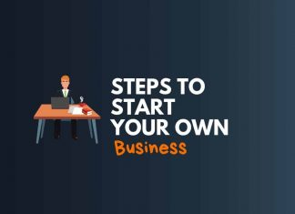 steps to start your own business