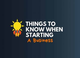 things know when starting a business