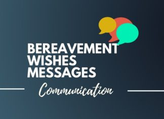 bereavement wishes thanks you card messages