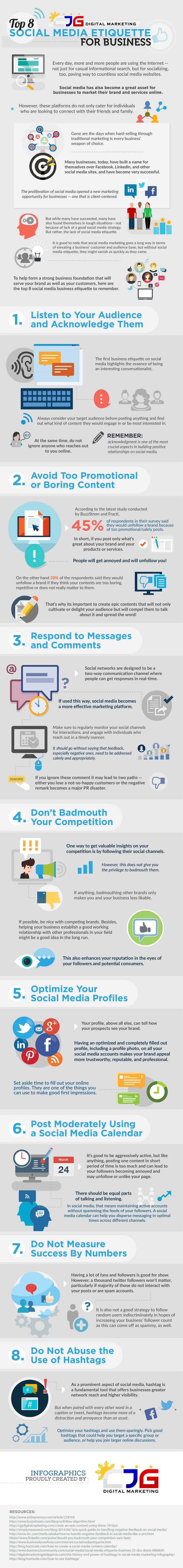 business etiquette for social media