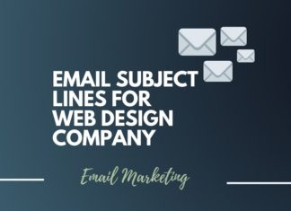 Email subject lines for Web Design Company