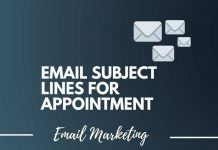 email subject lines for appointment