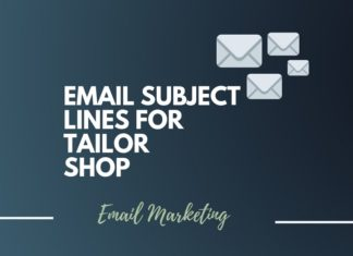 Email Subject Lines for Tailor Shop