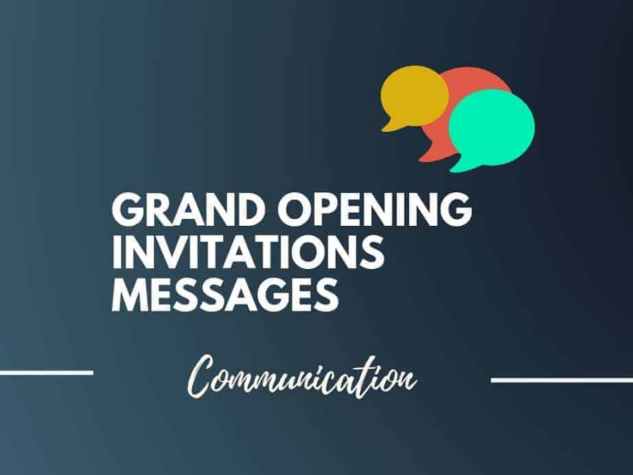 101 Brilliant Grand Opening Invitations Wording Ideas