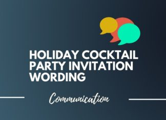 holiday cocktail party invitation wording ideas