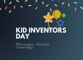 kids inventors day messages