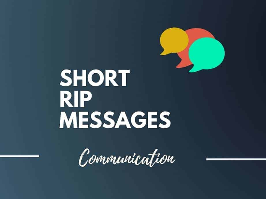 101 Short Rip Messages Best Condolence Messages
