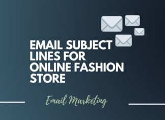 Email subject lines for Online Fashion Store