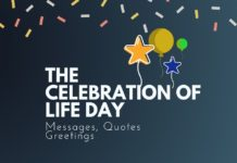 the celebration of life day messages