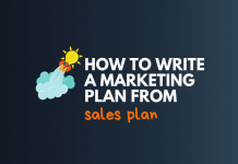 write marketing plan from sales plan