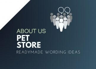 Pet Store About us
