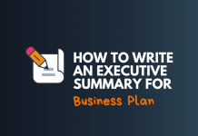 write an executive summary for business plan