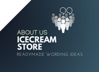 Ice Cream Shop about us