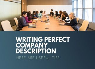 company description writing tips
