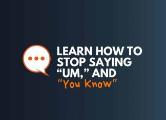how to stop sayings um you know