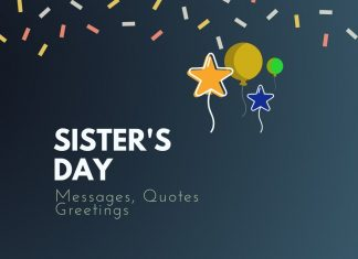 Sister's Day Messages