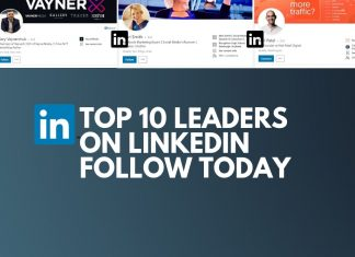 top 10 leaders on linkedin follow today
