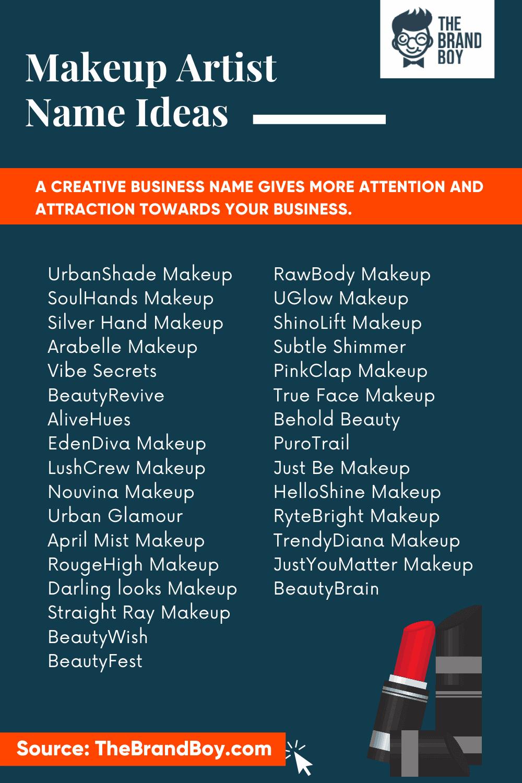 Makeup Artist Instagram Names Ideas