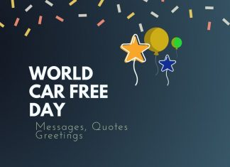 World Car Free Day Messages