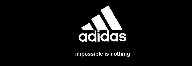 adidas logo with slogan