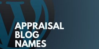 appraisal blog names