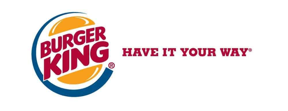 burger king logo with slogan