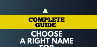 complete guide to choose right name for business