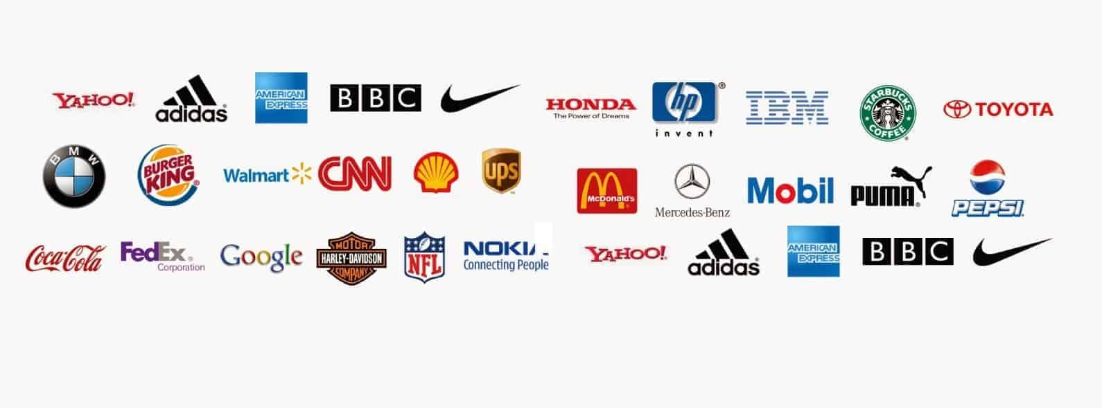 Famous brand logos