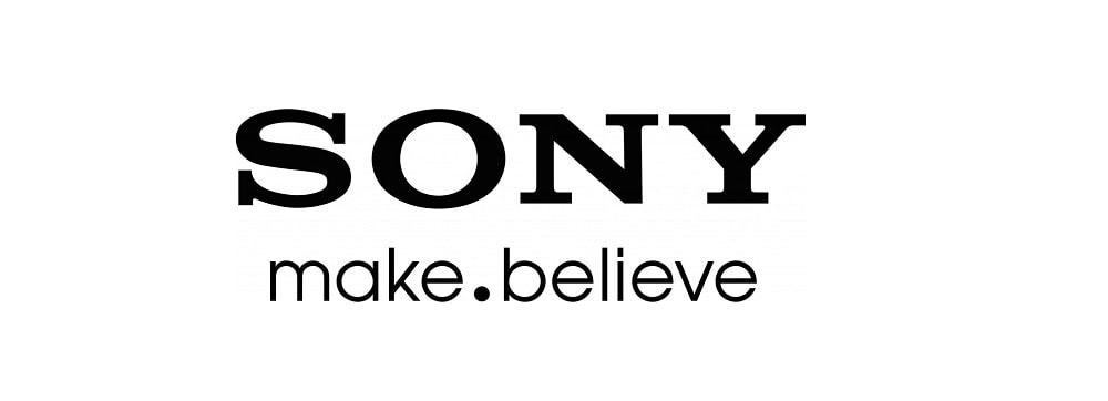 sony logo with slogan