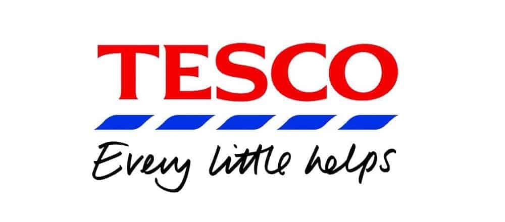 tesco logo with slogan