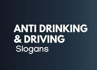 Anti Drinking and Driving Slogans
