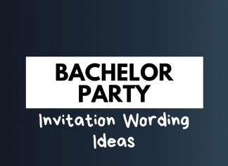 Bachelor Party Invitation Wordings