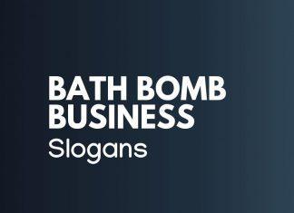 Bath Bombs Business Slogans