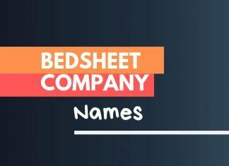 bed sheet company names