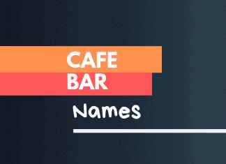 cafe bar names