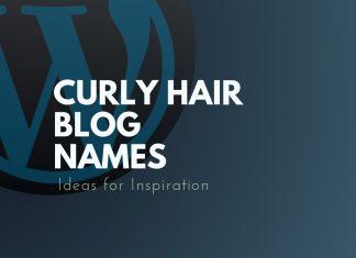 Curly Hair Blog Names