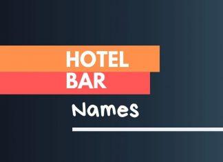 hotel bar business names